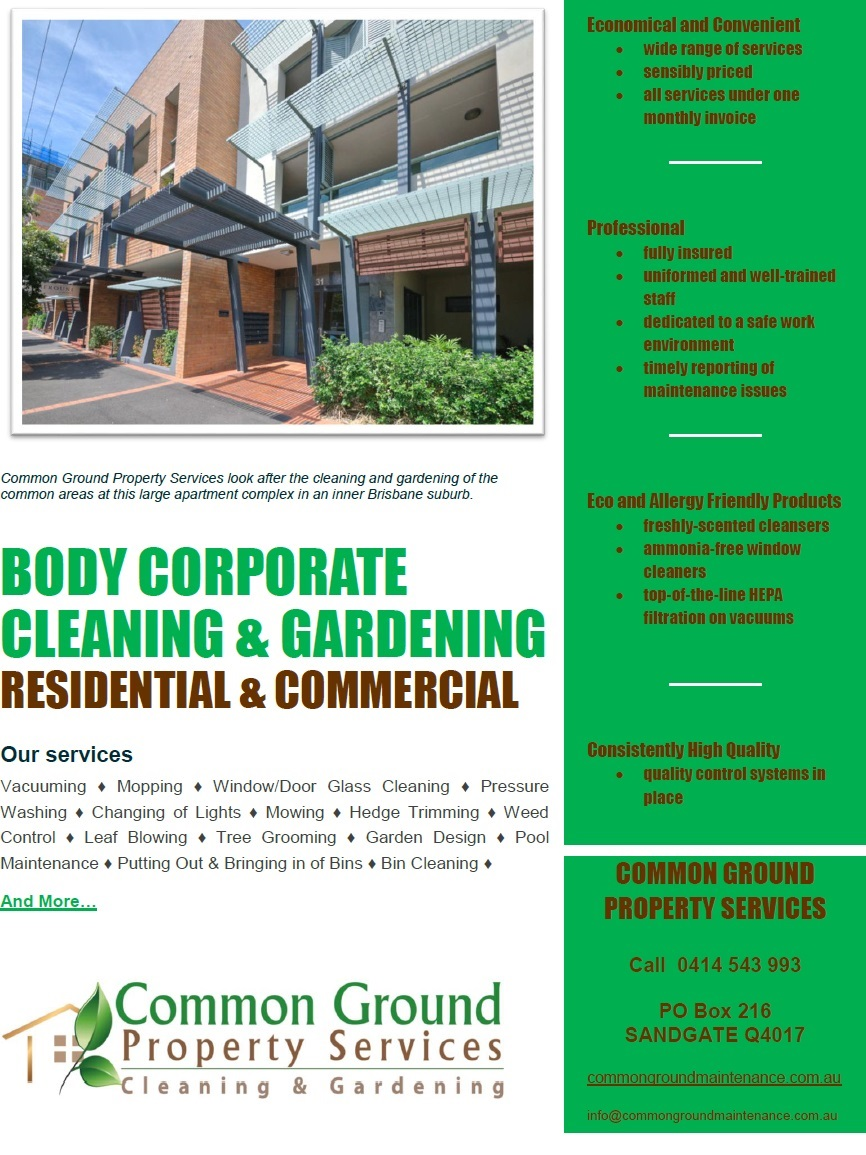Body Corporate Cleaning & Gardening